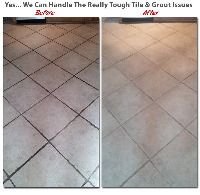 tile and grout cleaning - Carlisle - before and after